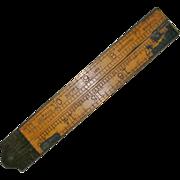 SOLD Vintage Lufkin Boxwood Folding Ruler No. 771 2 Foot