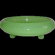 Fenton Jade Green Footed Dish 1930's #100