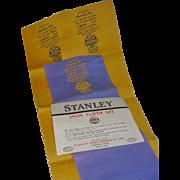 Vintage 1950's Stanley Pocket Shoe Shine Cloth Set
