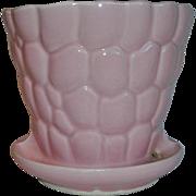 Brush McCoy Pottery Pink Flower Pot #330