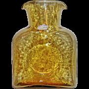 Vintage Blenko Honey Amber Classic Water Carafe