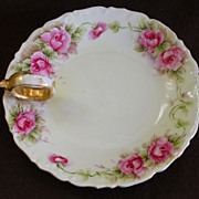 Vintage Limoges Hand Painted Roses Nappy-T&V