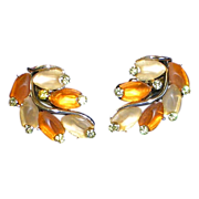 Vintage Star Jewelry Co. Rhinestone and Satin Finish Earrings