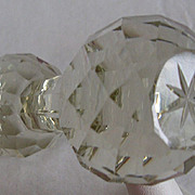 SALE Vintage Cut Glass Crystal Knife Rest