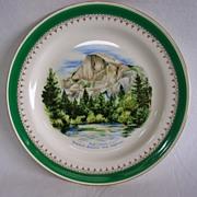 SOLD Vintage Homer Laughlin Eggshell Nautilus Souvenir Plate-Yosemite