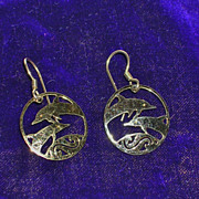 Vintage Wild Bryde Dolphin Earrings