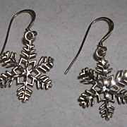 Vintage Diamond Cut Snowflake Earrings
