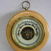 SALE Vintage West German Wall Barometer in Hardwood Case