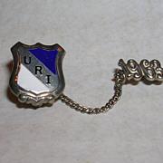 Sterling Silver Enamel Graduation Pin University of Rhode Island-1963