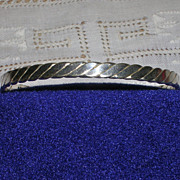 Sterling Silver Hammered Rope Bangle Bracelet