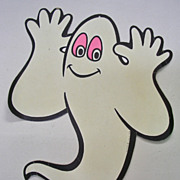 Vintage Beistle Die Cut Glow in the Dark Ghost