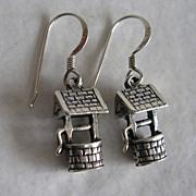 Darling Sterling Silver Wishing Well Earrings