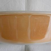 Milk Glass Fire King Copper Tint Casserole