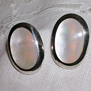 SALE Classic Mother of Pearl and Sterling Earrings