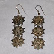 Delicate Sterling Silver Star Earrings