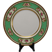 SOLD Antique Royal Doulton English China Porcelain Elegant Raised Gilt Hand Painted Dinner Pla