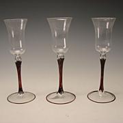 SALE c1930 Austrian Bimini Elegant Fine Lampwork Art Glass Wine Stem