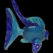 Venetian/Murano Art Glass Sunfish Sculpture Figurine LARGE