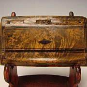 Antique Treen Horn Penwork American Federal Snuff Box c1820