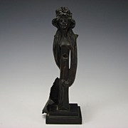Art Nouveau Jugendstil German/Austrian Bronze Sculpture Figure Signed P. Weltchen