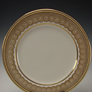 SALE Antique Royal Worcester China Porcelain Jeweled Elegant Cabinet Plate W8652