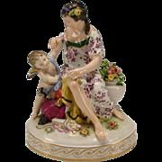 SALE Antique German Hochst Porcelain Figurine Grouping