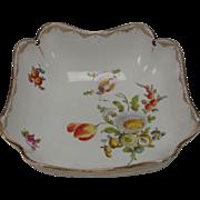 Antique Meissen German Porcelain LARGE Hand Painted Bowl 19c
