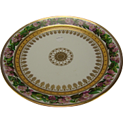Fantastic Large SEVRES Porcelain Hand Painted Floral China Charger Saponaire Officinale c1825