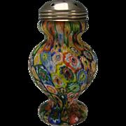 SALE Vintage Fratelli Toso Murano Millefiori Caned Glass Muffineer Sugar Shaker
