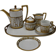 Art Deco Rosenthal Brass Ormolu Decorated Espresso Tea Set