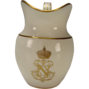 19th Century Antique French Sevres Porcelain Napoleon III Armorial Table Service Pitcher Jug