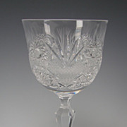Ceska Czech Cut Crystal Grand Renaissance Large Wine Glass Stem