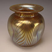 Loetz Phanomen Gre 7501 Iridescent Art Nouveau Glass Vase