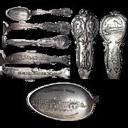 Figural Fish 1905 Lewis & Clark Exposition Sterling Souvenir Spoon