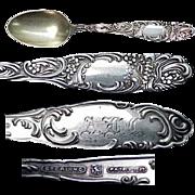 circa 1892 Towle Princess  Sterling Demitasse  Spoon