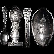 Fine 1900's  Garfield Monument Sterling Souvenir Spoon