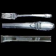 "1847 Rogers Bros. First Love Pattern 7 & 5/8"" ( 4 ) Viande Forks"