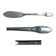 (5) 1847 Rogers Bros. First Love Pattern Butter Serving Knives