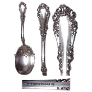 1897 Berkshire Pattern Berry Serving Spoon by 1847 Rogers Bros.