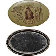 1912 Indian Maiden Pocket Mirror from Spokane Washington