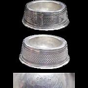 (4) Fine Coin Silver 1870's Individual Salt Cellars/ Salters (Salts)