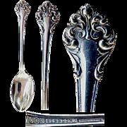 """Reed & Barton Sterling Demitasse Spoon """" L'Elegante"""" aka """"Elegante """"Patter"""