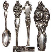 """R.Wallace Floral Series """"Orchid"""" Sterling Spoon & Fork Set"""