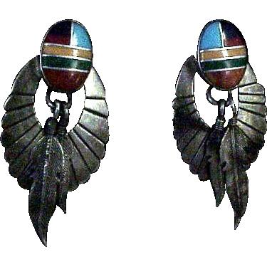 Enameled Sterling Earrings