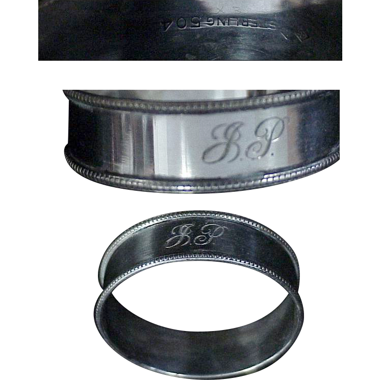 Sterling Silver Napkin Ring by H. H. Tammons Co.