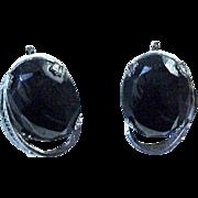 Sterling Silver & Hematite Earrings