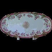 1890's Large Beautiful Celery Dish marked JDA France