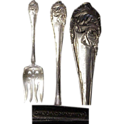 "1904 Flower de Luce ( aka Fleur de Luce ) Silverplated Pattern 8 1/4"" Cold Meat Fork"
