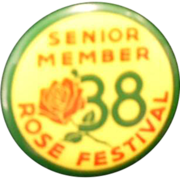 1938 Portland Rose Festival Senior Member Pinback Button