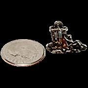 """Sterling Silver Charm For Charm Bracelet """" Senior / Man Taking a Siesta """""""